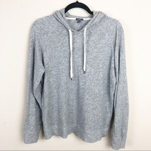 Vince   grey hooded pullover sweater